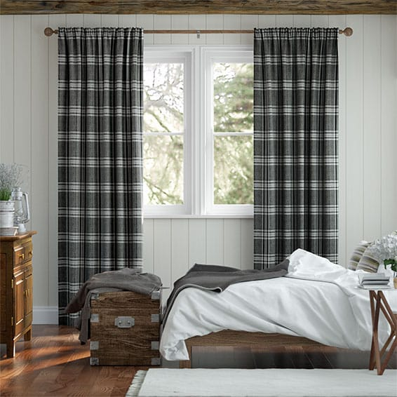 Madras Monochrome Curtains