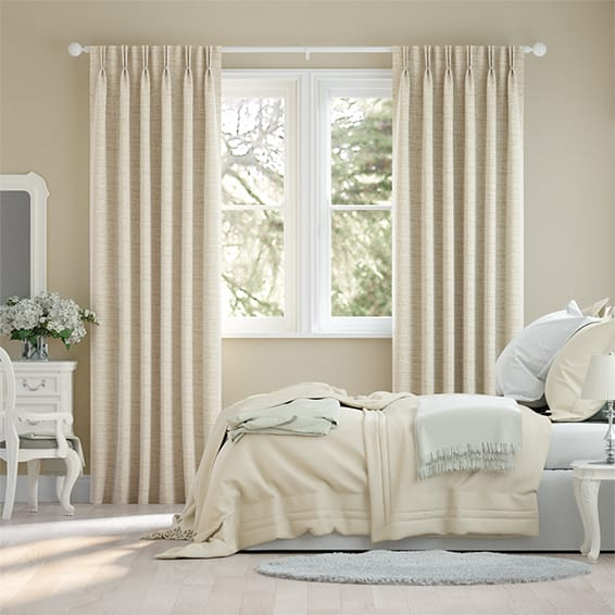 Mallay Latte Cream Curtains