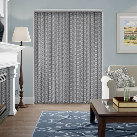 Malta Cinder Grey Vertical Blind