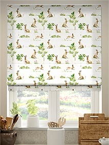 March Hares Country Roman Blind thumbnail image