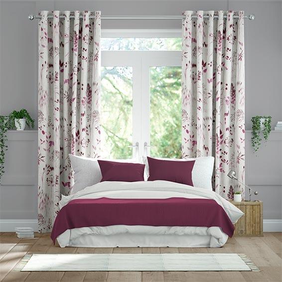 Meadow Fuchsia Curtains