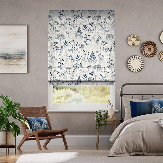 Meadow Midnight Roman Blind