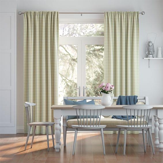 Melrose Lapis Blue Curtains