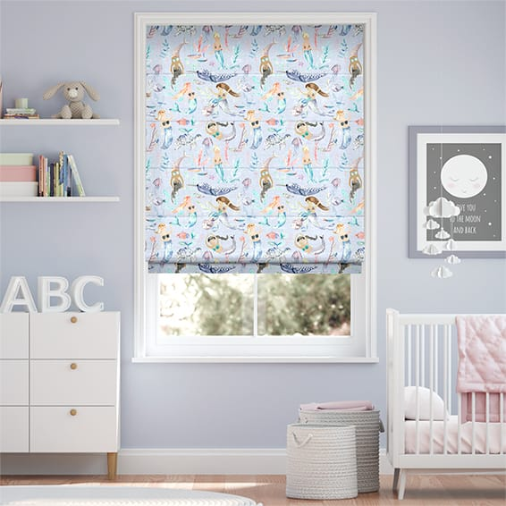 Mermaid Party Violet Roman Blind