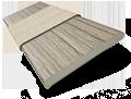 Metropolitan Ashen Oak & Glacier Wooden Blind - 50mm Slat slat image