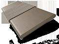 Metropolitan Boulder Grey & Putty Wooden Blind - 50mm Slat slat image