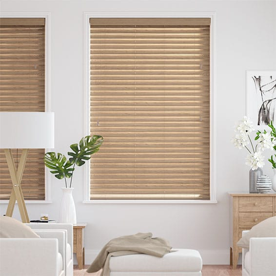 Metropolitan Classic Oak Wooden Blind - 50mm Slat