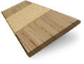 Metropolitan Classic Oak & Buff Wooden Blind - 50mm Slat sample image