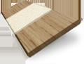 Metropolitan Classic Oak & Oatmeal Wooden Blind - 50mm Slat slat image