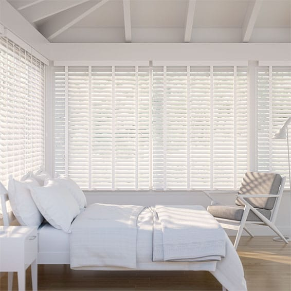 Metropolitan Gloss Ultra White & Linen - 50mm Slat