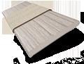 Metropolitan Grey Mist & Glacier Wooden Blind - 50mm Slat slat image