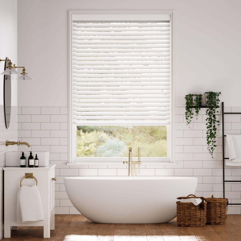 Metropolitan Soft Gloss White Wooden Blind - 50mm Slat
