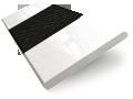 Metropolitan Soft Gloss White & Onyx Wooden Blind - 50mm Slat slat image