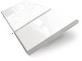 Metropolitan Soft Gloss White & Snow Wooden Blind - 50mm Slat sample image