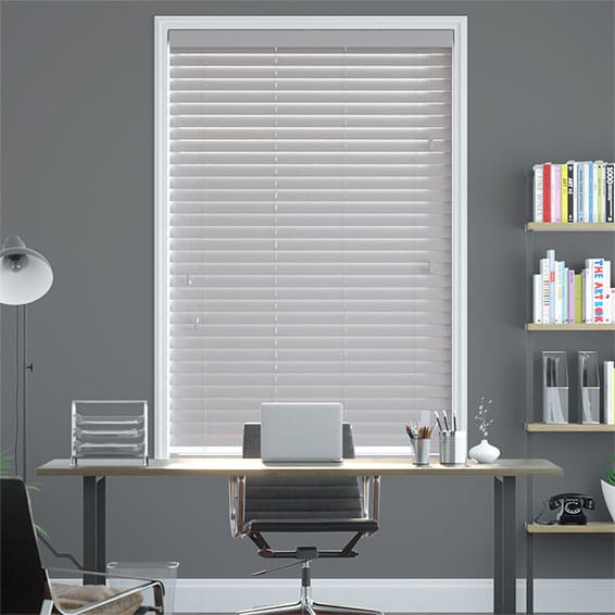Metropolitan Thunder Grey Wooden Blind - 50mm Slat