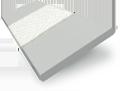 Metropolitan Thunder Grey & Parchment Wooden Blind - 50mm Slat slat image