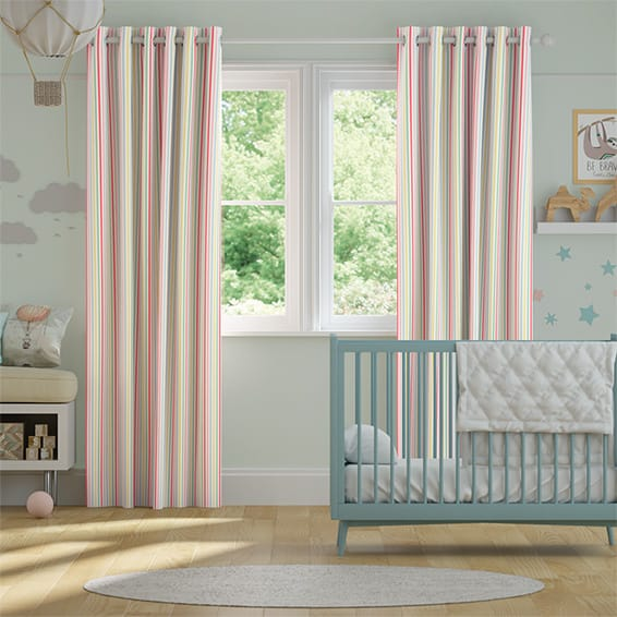 Mid Stripe Candy Curtains