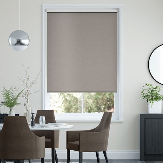 Midas Blackout Metallic Earth Roller Blind