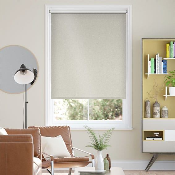 Midas Blackout Metallic Platinum Roller Blind