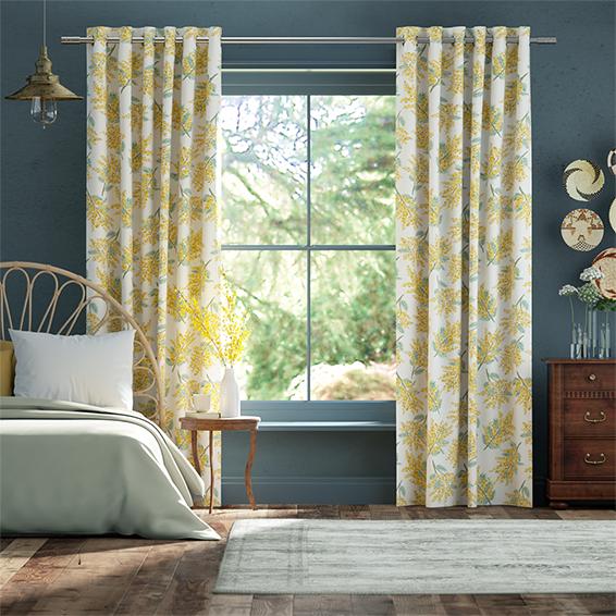 Mimosa Flower Citrine Curtains