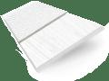 Monterey Mist & White Faux Wood Blind - 50mm Slat slat image