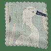 Moonlit Cranes Linen Silver swatch image
