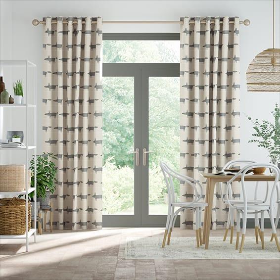 Mr Fox Mini Neutral Curtains