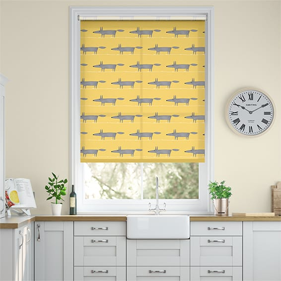 Mr Fox Mini Sunflower Roller Blind