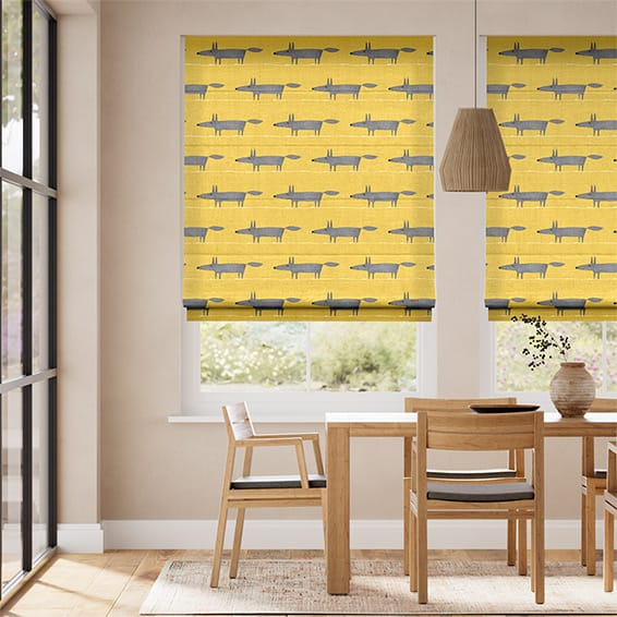 Mr Fox Mini Sunflower Roman Blind