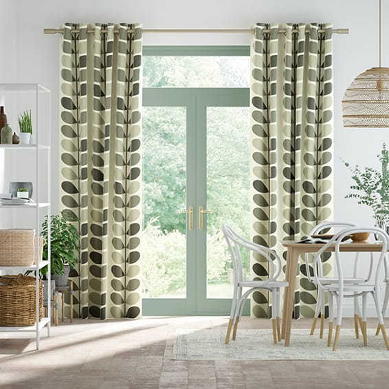 Multi Stem Warm Grey Curtains