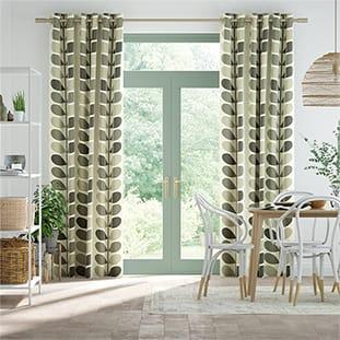 Multi Stem Warm Grey Curtains thumbnail image