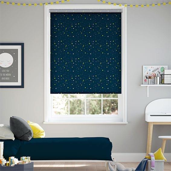 Night Sky Cosmic Blackout Blue Roller Blind