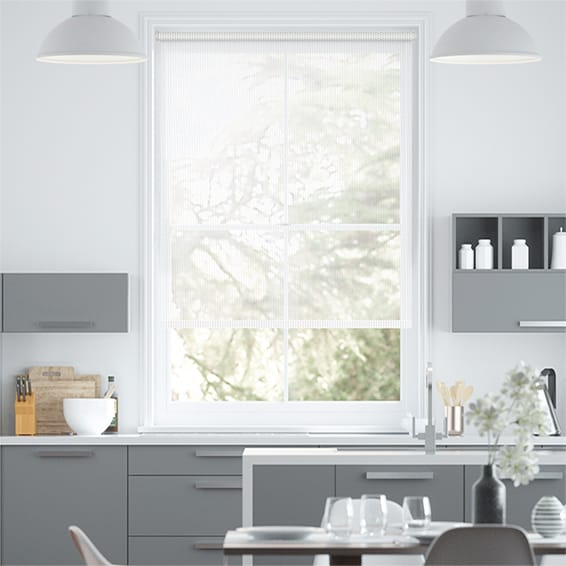Electric Oculus Bright White Roller Blind
