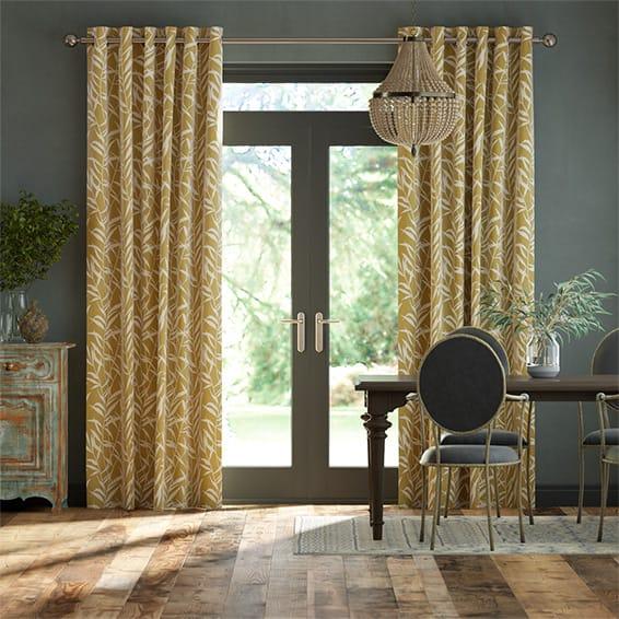 Olmeca Saffron Curtains