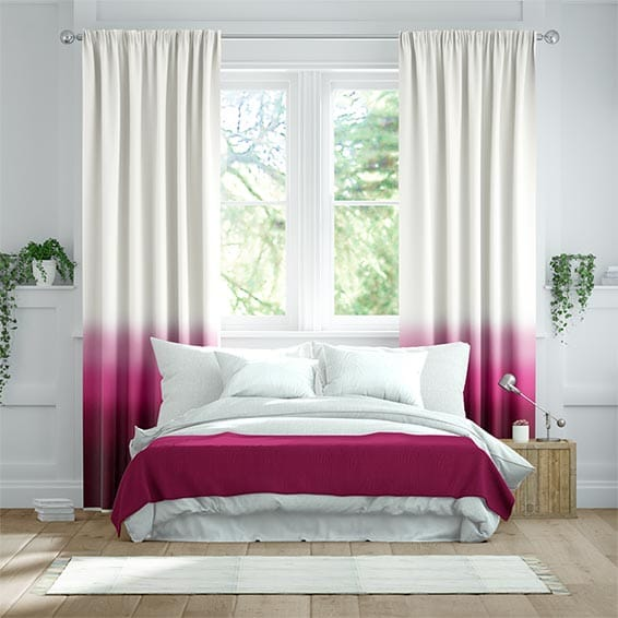 Ombre Fuchsia Curtains