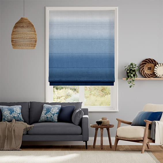 Ombre Midnight Roman Blind