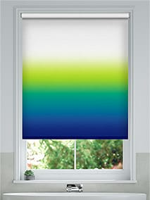 Ombre Navy Emerald Roller Blind thumbnail image