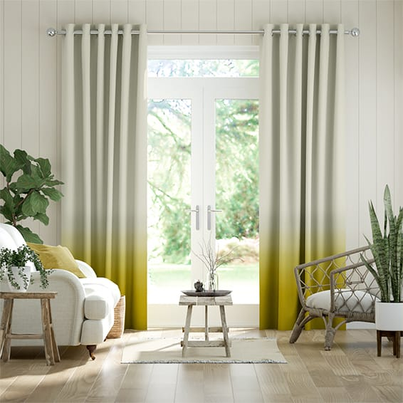 Ombre Ochre Curtains
