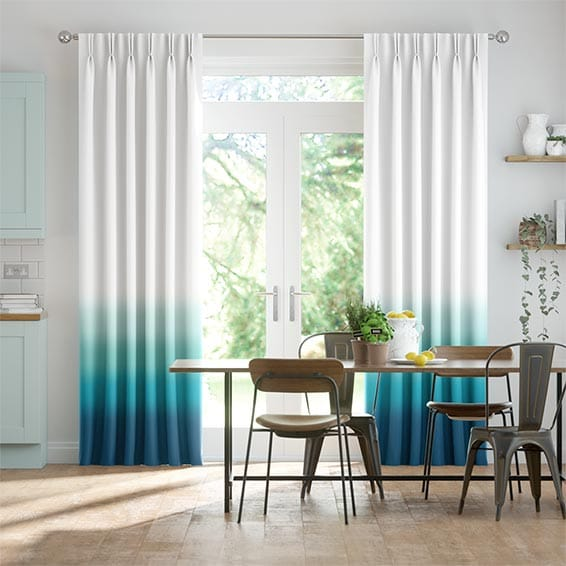 Ombre Teal Curtains