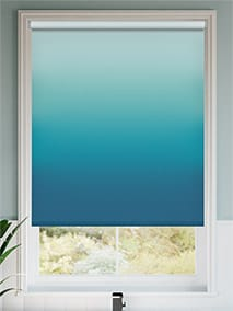Ombre Teal Roller Blind thumbnail image