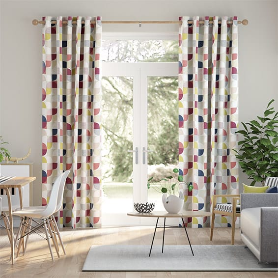 Ottil Berry Crush Curtains
