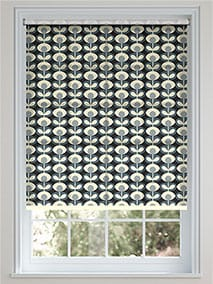 Oval Flower Cool Grey Roller Blind thumbnail image