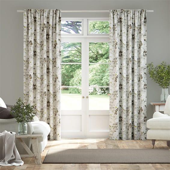 Paeonia Linen Neutral Curtains