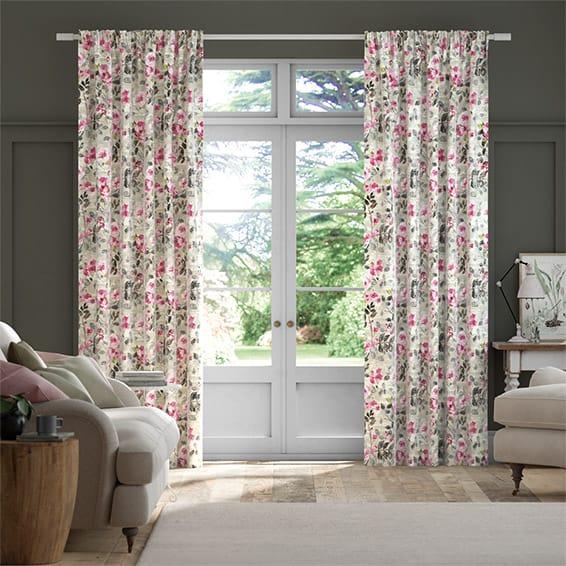 Paeonia Velvet Rose Curtains