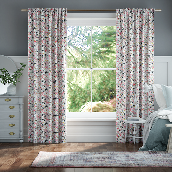 Painted Daisy Multi Curtains