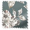 Painterly Floral Faux Silk Pewter swatch image