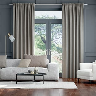 Palazzo Chenille Grey Curtains thumbnail image