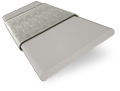 Pale Grey and Elephant Grey Wooden Blind - 50mm Slat sample image