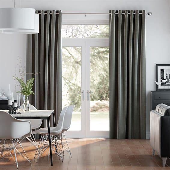 Paleo Linen Ash Curtains