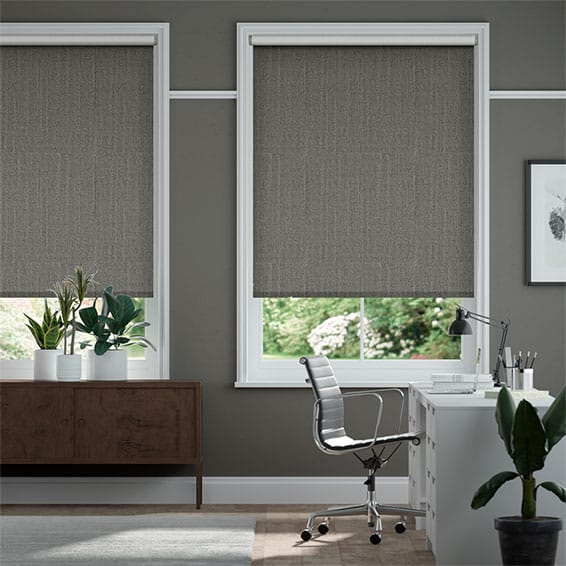 Choices Paleo Linen Charcoal Roller Blind